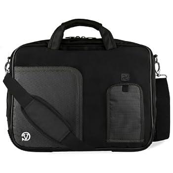 Jet Black Laptop Messenger Bag for ASUS Transformer Series ROG ASUSPRO ZenBook VivoBook 14  to 15.6 inch