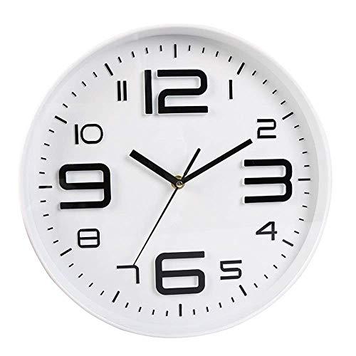 YONGJUN Orologio da parete al quarzo bianco orologio da parete semplice orologio da parete muto orologio da parete soggiorno camera da letto ristorante
