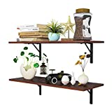 Homfa Floating Shelves Wall-Mounted Display Storage Ledge with Bracket for Bathroom,...