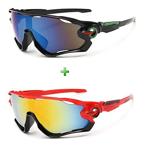 Óculos Bike Ciclismo Proteção Uv Mtb Speed Kit 2 Unidades