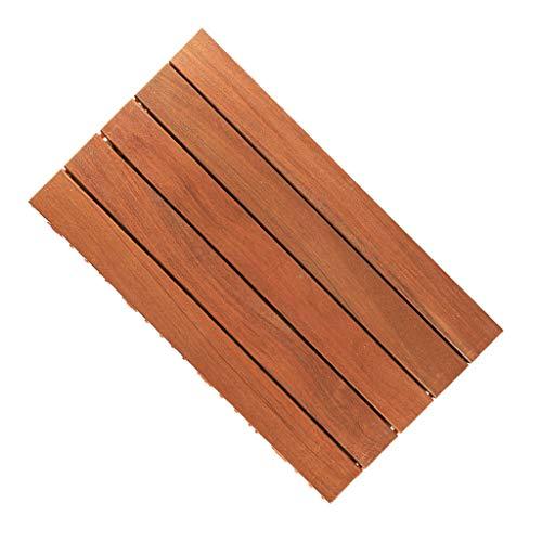 Holzboden 60 * 30cm Außen Balkon Korrosionsschutz Holzboden DIY Nähen for Außenterrasse Renovierung und Dekoration