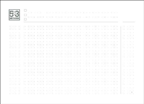 A5+ Querformat Notizheft, 5X3 Methode für das revolutionäre X17-Notizbuch mit auswechselbaren Heften