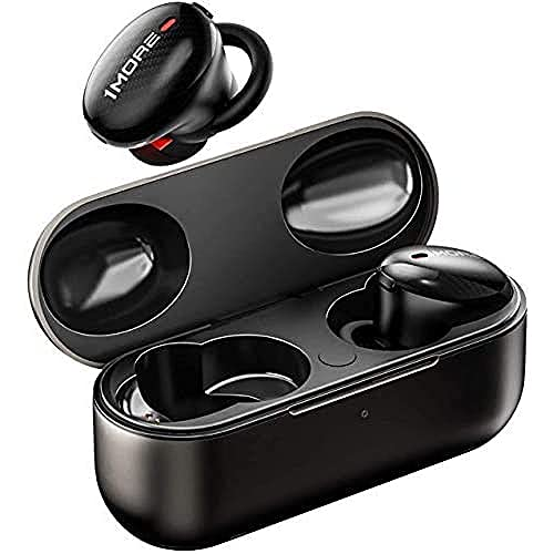 1More Echte Kabellose ANC Kopfhörer, Stereo In-Ear Kopfhörer mit aktiver Geräuschunterdrückung, duales ANC Mikrofon, Bluetooth 5.0 Kopfhörer mit schneller Aufladung und Ladebehälter., 2x4