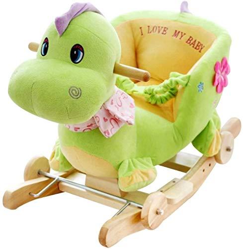LINGZHIGAN Silla de bebé Caballito de Madera de Troya Juguete de los niños Música Antigua Regalo de Aprendizaje Kinder Linda del Juguete