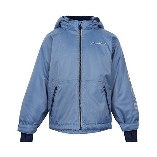 MINYMO Kinder Winterjacke Skijacke Wassersäule 8000 mm Winddicht Atmungsaktiv Wasserdicht Getapte Nähte Unifarben, Größe:110, Farbe:Coronet Blue