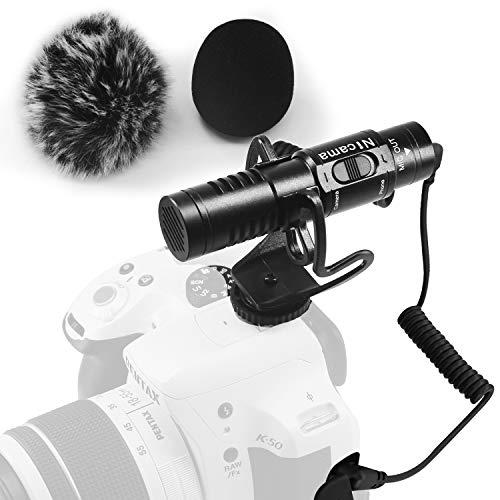 Nicama SGM8 Camera Shotgun Video Microphone with 1 Furry Windscreen Muff for DSLR Camera Camcorders Audio Recorder Smartphone