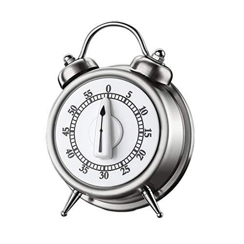 Yihaifu Cocinar Alarma Temporizador de Cuenta Regresiva del Reloj mecánico mecánico cocinar Temporizador de Cocina de Acero Inoxidable de Cocina Hornear Recordatorio Timing
