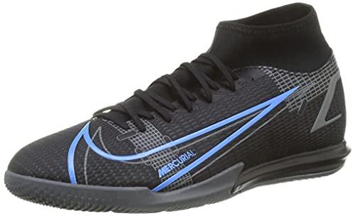 Nike Mercurial Superfly 8 Academy IC, Scarpe da Calcio Unisex-Adulto, Black/Black-Iron Grey, 40.5 EU