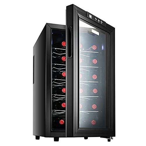 Refrigerador Y Enfriador De Bebidas, Gabinete De Vino De Temperatura Constante, Máquina Dispensadora De Bebidas Pequeñas De Cerveza O Vino con Pantalla Digital De Temperatura, Luz Led (Capacidad: 18