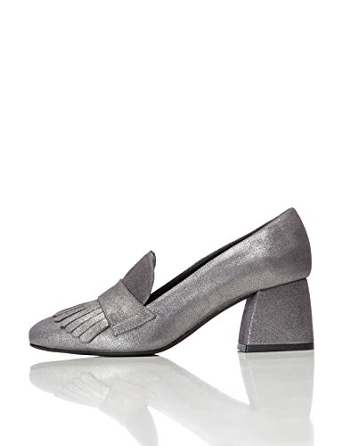 find. Ari Heeled, Scarpe col tacco Donna, Argento (Silver), 38 EU