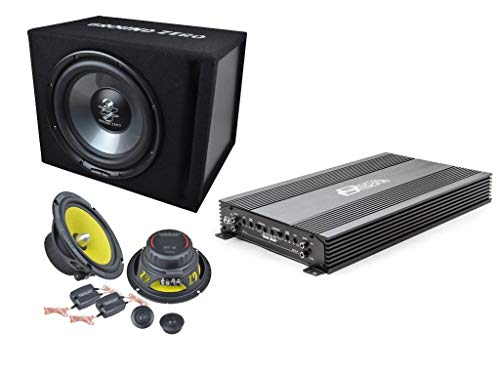 SoundPak DZ Amplificatore DD Digital Designs 4 Canali + Kit Casse con Woofer e Tweeter da predisposizione e Subwoofer in cassa GROUND ZERO Offerta su impianto stereo auto completo