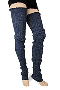 MAKE A WARM STATEMENT: Super long 39 inch long cable knit leg warmers add warmth and comfort to any outfit on a cold day and look great when worn over tights, leggings and skinny jeans. Perfect for dancers or working out. MAKES A GREAT GIFT: Makes a ...