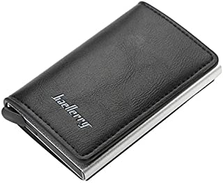Baellerry Leather Wallet For Men And Women With Aluminium RFID Blocking Anti Theft Credit Card And ID Holder With Automati...