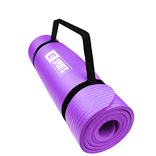Calma Dragon 85611 NBR Yoga Mat, spessore, tappetino antiscivolo, ideale per pilates, esercizi, fitness, ginnastica, stretching (viola, 185x62x1,5cm)
