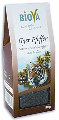 Biova - Tiger Pfeffer Schwarzer Malabar Pfeffer - 80g