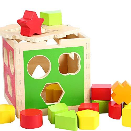 13-teilig Babyspielzeug Spielzeug Motorikspiel Beeboo Baby Steckbox Scheune