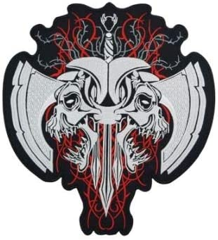 Fashion Skull Embroidered Patches for Jackets Full OFFer Size Back of Bombing free shipping