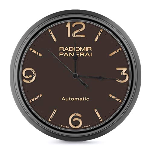 Panerai Radiomir European Style Retro Wall Clock, Silent Non Ticking Battery Operated Movement, Home/Wall Decor One Size
