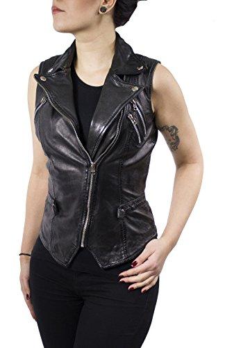 Ivy West - Damen Echt Leder Rock Lederweste (2XL)