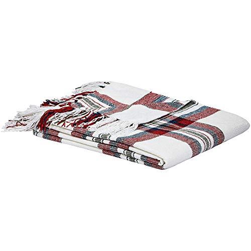 Plaid Blanket - Red Cream, 50