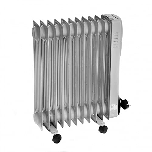 Oypla Electrical 2500W 11 Fin Portable Oil Filled Radiator Electric Heater
