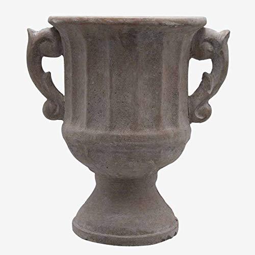 Better & Best 3001368 Jardinera con forma de copa grande, en resina, con adorno gallones, y asas