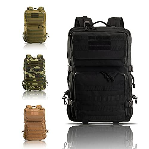 Armybag® | Wasserdichter Outdoor Rucksack Schwarz - 45 Liter Volumen - Militär Rucksäcke - Reise & Wanderrucksack - Rucksack Herren & Damen groß