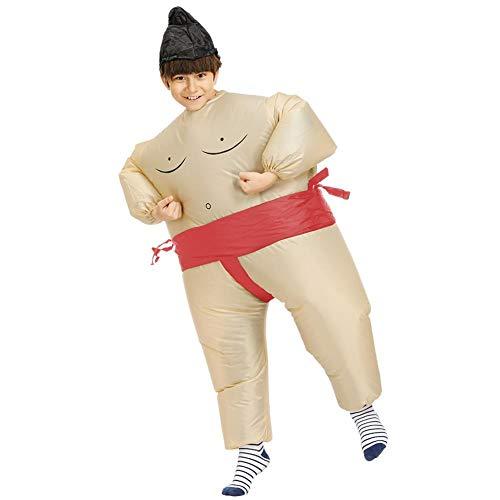 BYJIN Aufblasbares Kostüm Japan Sumo Ringer T-Rex für Halloween Karneval Fastnacht Fasching Kostüm Kinderkleidung Fatsuit Fett Anzug