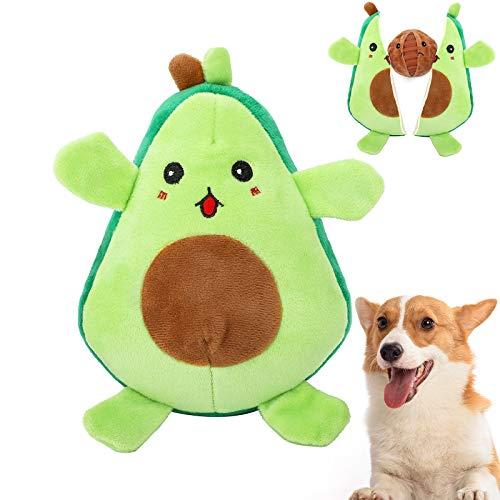 VavoPaw Giocattolo per Cane, Giocattoli Interattivi da Masticare per Cani Giochi Resistente con Squeak per Cucciolo a Forma di Avocado per Pulizia dei Denti per Animali Domestici - Verde
