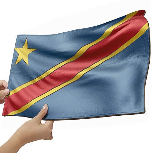 Kongo Flagge als Lampe aus Holz - schenke deine individuelle Kongo Fahne - kreativer Dekoartikel aus Echtholz