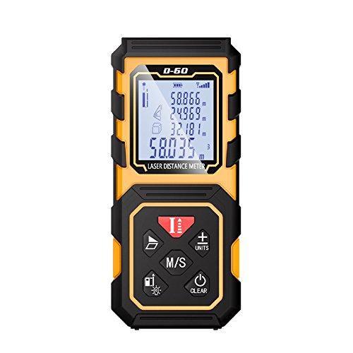CGOLDENWALL Mini buscador de rango láser 50/70/100M USB Soporte de carga medidor de distancia láser telémetros láser mano Trena cinta métrica herramienta (100 m)