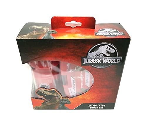 Theonoi Juego de 2 fiambreras para niños / fiambrera / fiambrera / fiambrera + botella, idea de regalo (dinosaurio