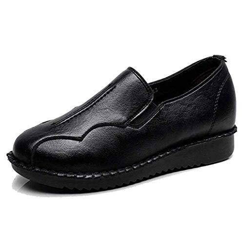 Frauen Plattform Wedges Schuhe Round Toe Comfort Mokassins Slip On Casual Soft Driving Flats Flachmund Wedge Loafers