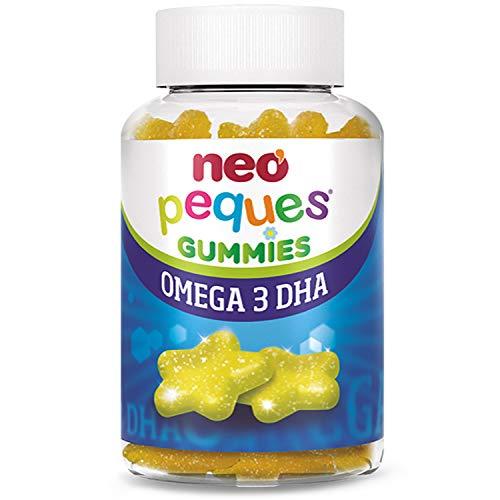 Neo Peques | Gummies Omega 3 y DHA de Origen Vegetal 30 Unidades | Gominolas a Base de Colina y Vitaminas | Tomar 1 o 2 al Día | Para Mayores de 3 años | Caramelo Masticable Infantil | Sabor a Limón