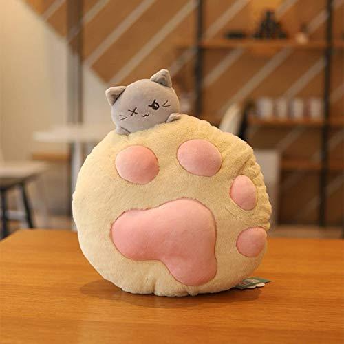 N-B Lindo mascota gato almohada manta juguete creativo chica corazón gato pata cojín suave y cómodo almohada manta dos para uno