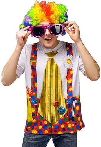 Clown T Shirt Clown Tee Shirt Clown Shirt Adult Unisex Fancy Dress Costume