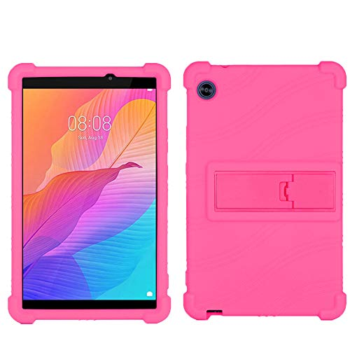 QYiD Case for Lenovo Tab 7 Essential 7-Inch Tablet (TB-7304F) (TB-7304I) (TB-7304X), Light Weight Silicone Kids Friendly Soft Shock Proof Cover for Lenovo Tab 7 Essential 7-Inch Tablet, Rose