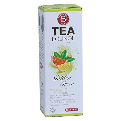 Teekanne Tealounge Kapseln - Golden Green No. 402 Grüner Tee (8 Kapseln)