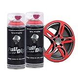AutoFullCar Full Dip Pack 2 Spray Colores FULLDIP PLASTIDIP - TiendaFullDip.com (Rojo)