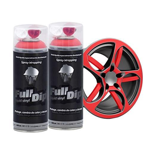 AutoFullCar Full Dip Pack 2 Spray Colores FULLDIP - TiendaFullDip.com (Rojo)