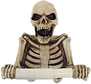 Design Toscano JQ10089 Holder-Bone Dry Skeleton Toilet Paper Roll-Bathroom Wall Decor, Multicolor