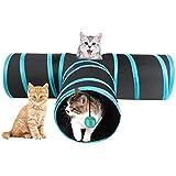 INTVN Katzentunnel Katzenspielzeug, 1Stück 3-Wege-Spiel Tunnel Faltbarer Katzentunnel Katze Spielzeug Hundenspielzeug Spieltunnel mit Glöckchen, für Kaninchen Katze Hunde und Kleintiere Haustier