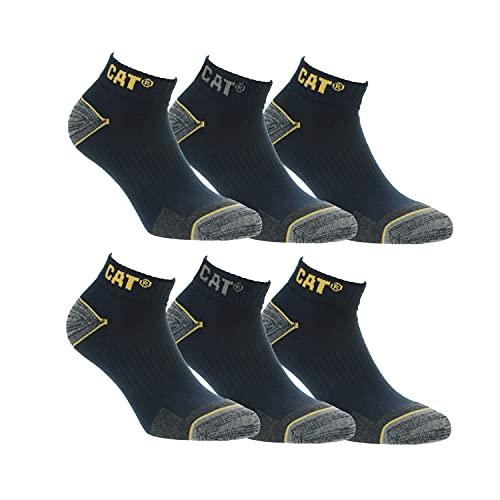 CAT Caterpillar Herren Universal kurze Socken (39-42, 6 Paar Blau)