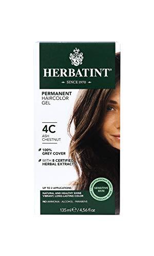 Herbatint Permanent Haircolor Gel, 4C Ash Chestnut, 4.56 Ounce