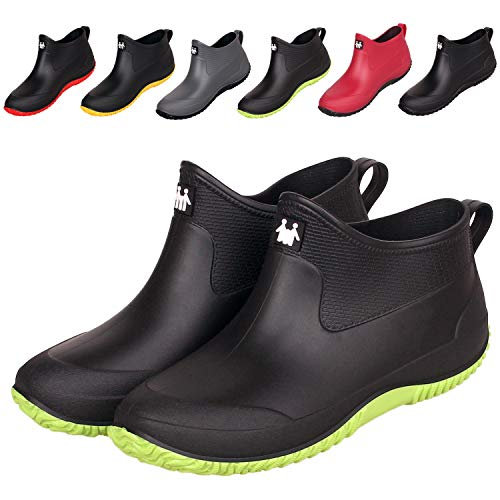 Agua Botas Goma Mujer Impermeable Lluvia Zapatos Suave Comodos Rain Botines Antideslizantes Agua Tobillo Bota Negro 41