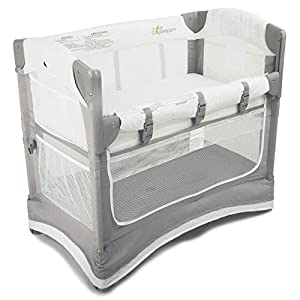 Arm's Reach Concepts Arm's Reach Mini 3-in-1 Co-Sleeper Bassinet – White & Grey, Grey/White