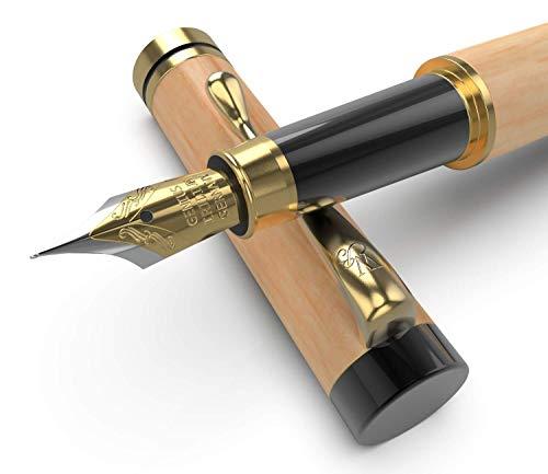 Wordsworth & Bläck - Pluma estilográfica de lujo de madera con funda