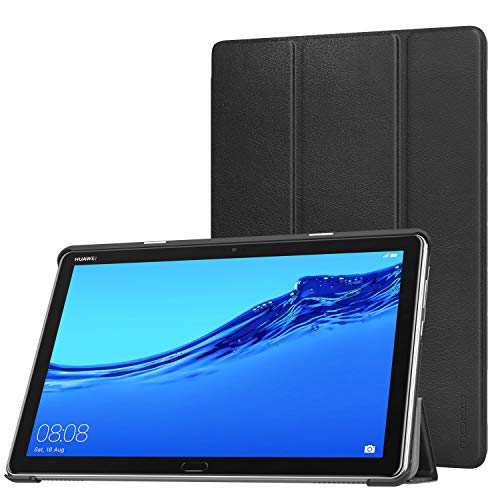 MoKo Hülle für Huawei MediaPad M5 Lite 10, Ultra Slim PU Leder Tasche Schutzhülle Smart Hülle mit Auto Sleep/Wake up Funktion & Standfunktion für Huawei MediaPad M5 Lite 10.1