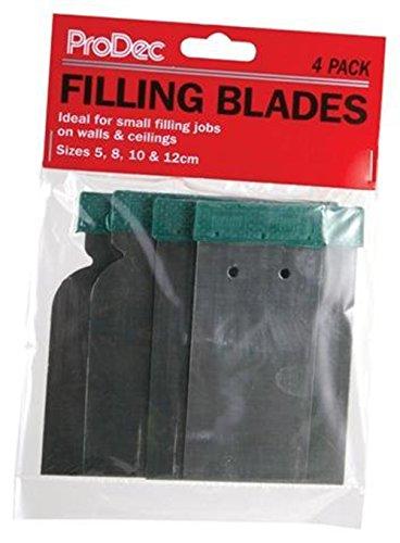 ProDec Décoration Flexible Corps de remplissage/grattoir couteaux Lot de 4 Lot de 50 mm, 80 mm 100 mm 120 mm,