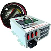 Powermax PMBC-55ADJ 12-16 Volt Adjustable 55 Amp Converter Charger with Cables and 3 Stage Automatic Smart Charger